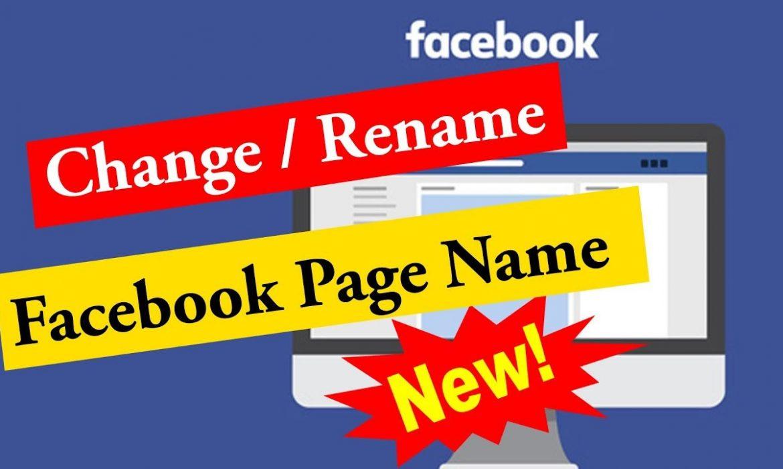 Dịch vụ đổi tên Fanpage Facebook
